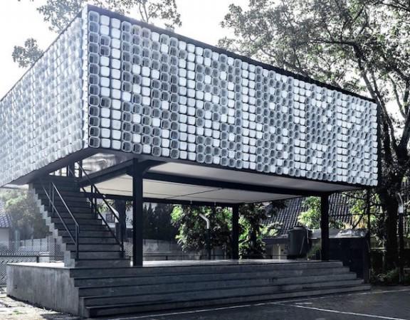 Biblioteca-Indonesia-construida-2-mil-embalagens-sorvete-reutilizadas