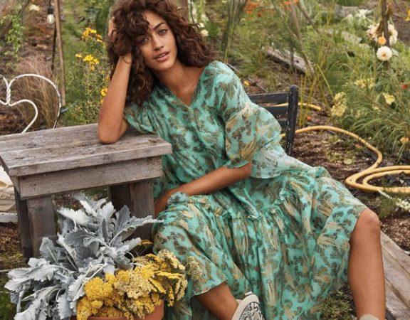 Look da nova coleção da linha Conscious Exclusive, da H&M